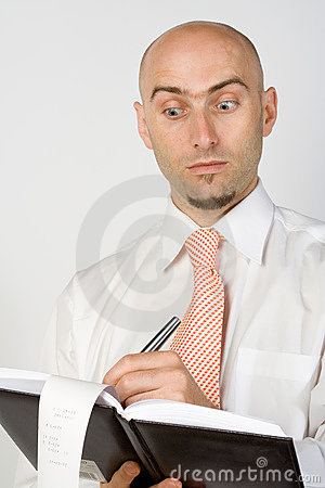 Astonished accountant