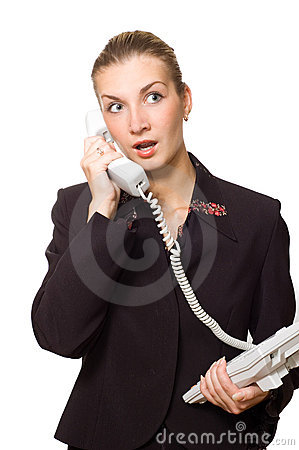 Free Astonished Telephone Operator Royalty Free Stock Images - 1829419