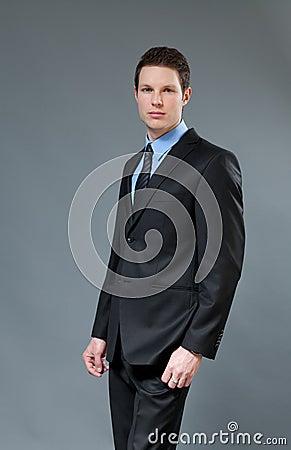 Astonishing young businessman
