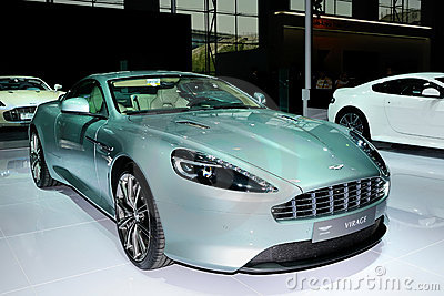 Astonmartin VIRAGE supercar Editorial Stock Photo