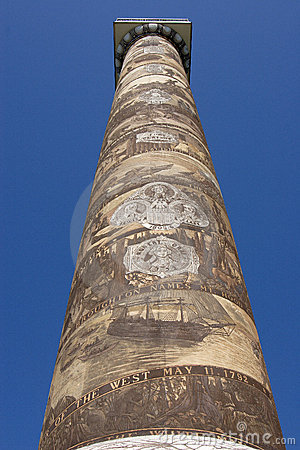 The Astoria Column in Astoria Oregon.