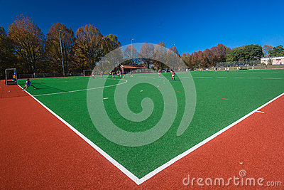 Astro Hockey Field Corner Editorial Photography