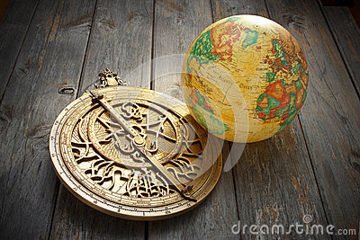 Astrolabe Globe Travel Background
