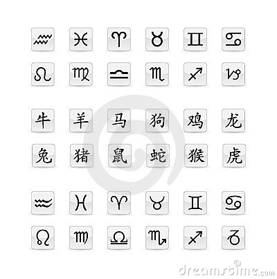 Astrological Sign Icon Set