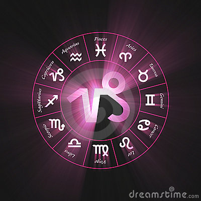 Astrology symbol Capricorn light flare