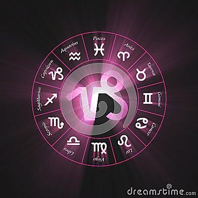 Astrology symbol Capricorn light flare