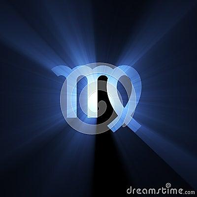 Astrology symbol Virgo moon light halo