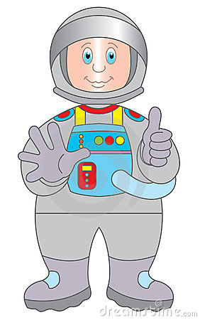 Astronaut cartoon illustration