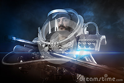 astronaut with weapon - photo #23
