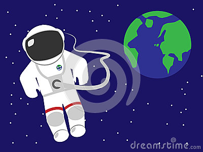 astronaut floating in space cartoon - photo #7
