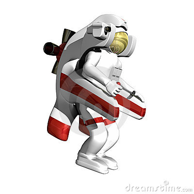 Astronaut with jet pack
