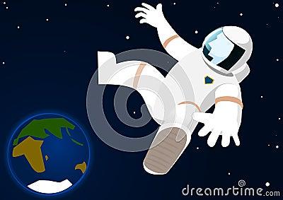 Astronaut in open space