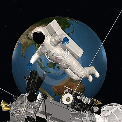 Astronaut in outer space stock image image 15389471 for 3d outer space map