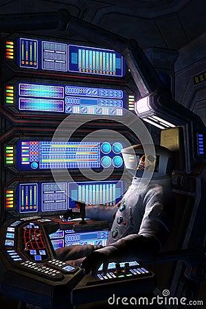 Astronaute mort l 39 int rieur d 39 un vaisseau spatial for Interieur vaisseau spatial