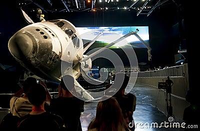 Astronautycznego wahadłowa eksponat Atlantis Obraz Stock Editorial