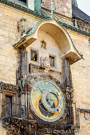 Free Astronomical Clock On Old Town Hall In Prague Stock Photography - 44849172