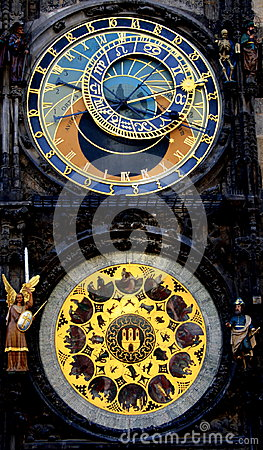 Free Astronomical Clock. Prague Royalty Free Stock Images - 42356019