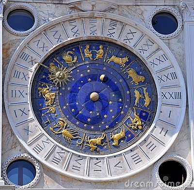Free Astronomical Clock, Venice , Italy  Stock Images - 15514924