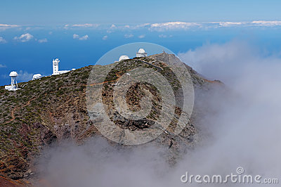 Astronomical observatory at the top of the island