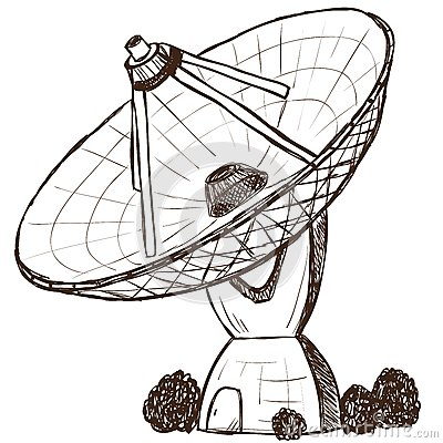 Astronomical satellite sketch style