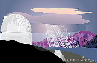 Astronomy observatory in mountains