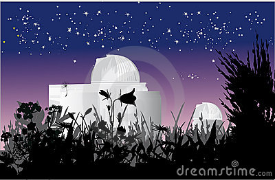 Astronomy observatory at nigth
