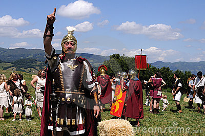Astur-Roman Festival CARABANZO Editorial Photo