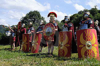 Astur-Roman Festival CARABANZO Editorial Stock Image
