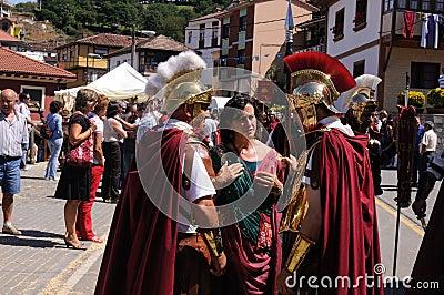 Astur-Roman Festival CARABANZO Editorial Image