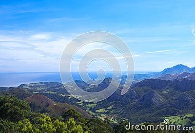 Asturias coastline of Atlantic