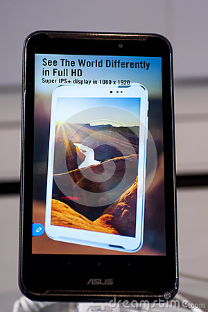 ASUS FONEPAD NOTE 6, MOBILE WORLD CONGRESS 2014 Editorial Photo