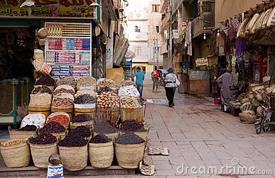 Aswan market in egypt Editorial Stock Photo