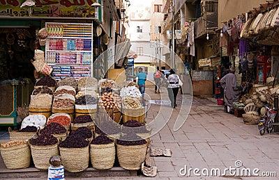 Aswan market in egypt Editorial Stock Photo