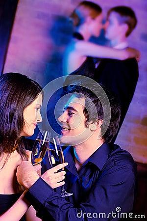 Free At Night Party Royalty Free Stock Photos - 2448198