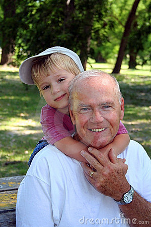 Free At The Park With Grandpa Stock Photos - 835323