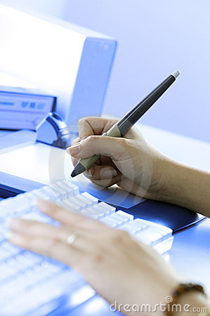 Free At Workstation Royalty Free Stock Photography - 2084437