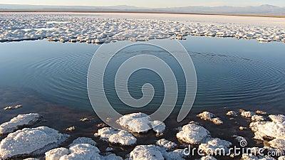 Atacama Desert salt lake, Chil