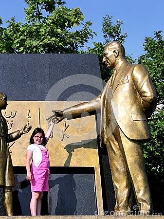 Ataturk with child