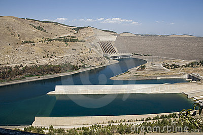 Ataturk Dam on the Euphrates River - Anatolia