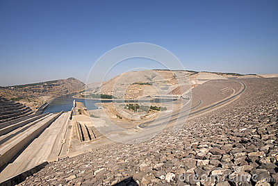 Ataturk dam in turkey