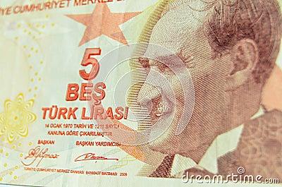 Ataturk na Tureckim banknocie