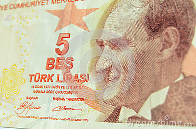 Ataturk on Turkish banknote