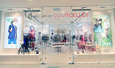 Atelier de courcelles shop in hong kong Editorial Stock Photo
