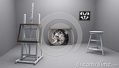 Atelier mit Abbildung zwei