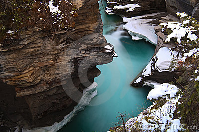 Athabasca Fall at Spring