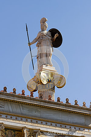 Athena Pallas statue in Greece