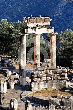 Athena Pronaia Sanctuary at Delphi, Greece