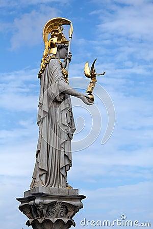 The Athena statue