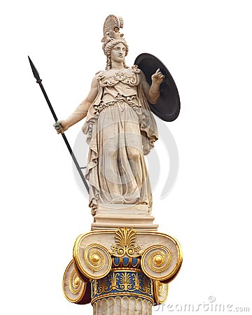 Free Athena Statue, The Ancient Goddess Of Philosophy And Wisdom Royalty Free Stock Images - 106941899