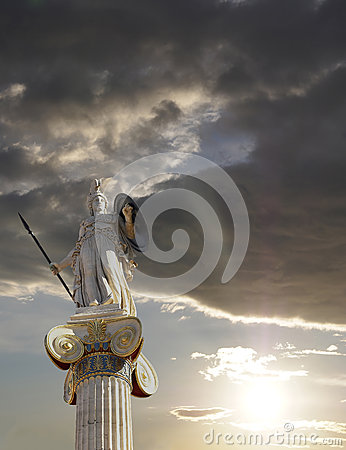 Free Athena Statue, The Goddess Of Wisdom And Philosophy Stock Photography - 49959302